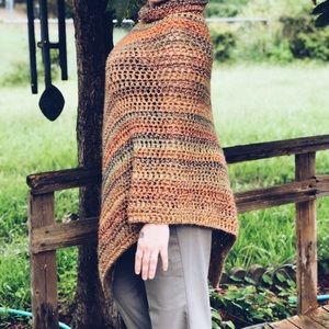 Sweaters - Asymmetrical Fall Poncho